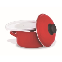 Schafer Pişir Sakla Tencere 18 Cm Kırmızı