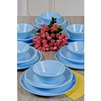 Keramika Hitit Yemek Takım Buz Mavısı 6 Kişilik 18 Parça