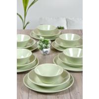 Keramika Hitit Yemek Takım Mınt Yesılı 6 Kişilik 18 Parça
