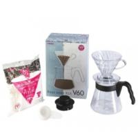 Hario V60 02 Kahve Demleme Kiti - Şeffaf