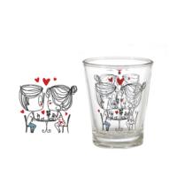 Vidrex Romantik Desenli 6'lı Derya Cam Kahve Yanı Bardağı