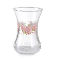 Vidrex 6'lı Leylak Gül Desenli Çay Bardağı