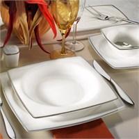 Kütahya Porselen Aliza Bone 83 Parça 66103 Desenli Yemek Takımı