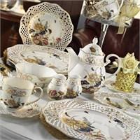 Kütahya Porselen Bone China 38 Parça 21102 Desen Kahvaltı Takımı