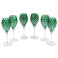Altıncı Cadde Şarap Bardağı 6Lı Yeşil