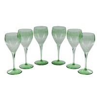 Altıncı Cadde Ayaklı Su Bardağı 6Lı Yeşil