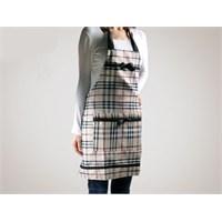 Gift Box Elbise Tasarımlı Mutfak Önlüğü - Ekoseli