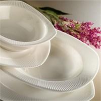 Kütahya Porselen Cisil 24 Parça Beyaz Yemek Seti