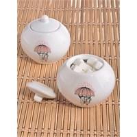 Keramika Şekerlik Julıet 10 Cm Beyaz 004 Pink Love Keramira A