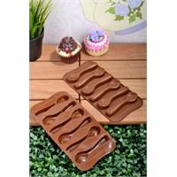Paşahome 3 Adet Slikon Kaşık Şekilli Lüx Çikolata Kalıbı