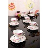 Paşahome Delikli Tabaklı Rose Lüx 6 Kişilik Kahve Seti