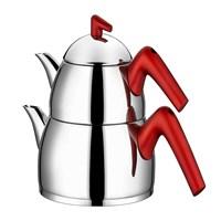 Taç Milena Çaydanlık Orta Kirmizi