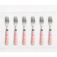 Pink&More Pink Rose 6'Lı Tatlı Çatalı
