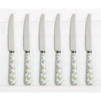 Pink&More Sky Blue Rose 6'Lı Yemek Bıçağı
