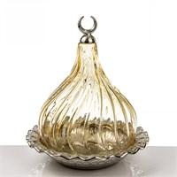 Mukko Home Osmanlı Cam Lokumluk-Altın Büyük Boy