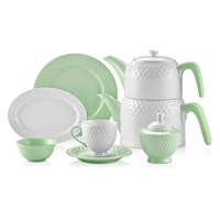 Schafer Eden Collection 34 Parça Kahvaltı Takımı Yeşil