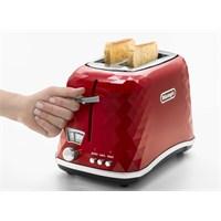 Delonghi CTJ2103 R FRONT Bianco Ekmek Kızartma Makinesi Kırmızı