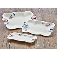 Fidex Home Bone Porselen 3Lü Servis Seti
