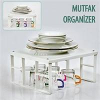 Bluezen Mutfak Organizer - Dolap İçi Raf Düzenleyici