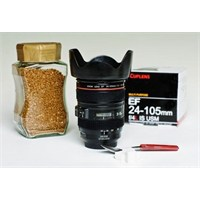Biyax Kamera Lensi Şeklinde Bardak