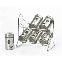 Yargıcı Porselen Metal 6Lı Baharat Takımı