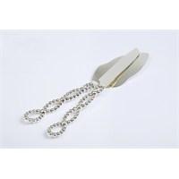 Yargıcı Porselen Metal Gümüş Renk 2Li Spatula- Bıçak Takımı