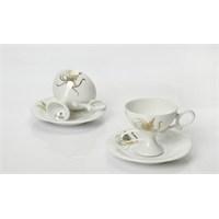 Yargıcı Porselen Porselen Kahve Fincan Set