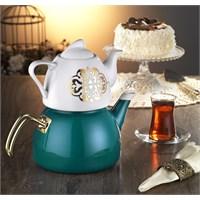 Dufy Home Çaydanlık Takımı Turkuaz 3,6 Litre