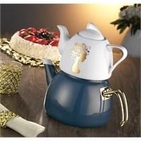 Dufy Home Çaydanlık Takımı Mavi 3,6 Litre