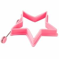 D-Sign Home Silikon Omlet Yıldız Krep Şekillendirici Gül Kurusu