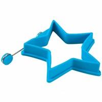 D-Sign Home Silikon Omlet Yıldız Krep Şekillendirici Mavi