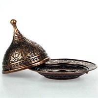Uygun Osmanlı Motifli Kubbe Lokumluk Bakır