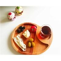 Te Home-Wooden-Junior-Çocuk Servis-Kahvaltılık Tabak