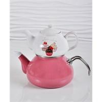 Keramika Pink Çaydanlık