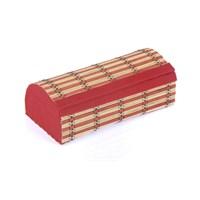 Orijinal Kulüp Hasır Kapaklı Ekmek Sepeti Kırmızı