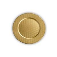 Kancaev Dekoratif Plastik Supla/Tabak Altlığı Baklava Dilimli - Altın 6'Lı Set