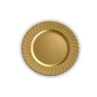Kancaev Dekoratif Plastik Supla/Tabak Altlığı Güneş Model - Altın 6'Lı Set