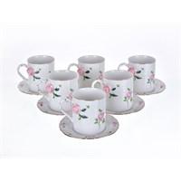 Lucky Art Rosella Pink 6Lı Çay Fincan Seti