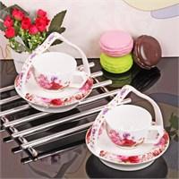 İhouse11804 Porselen Kahve İkram Seti Beyaz