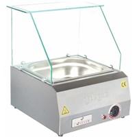 Silver Kapsız Elektrikli Sosis Tezgahı (Sosislik)