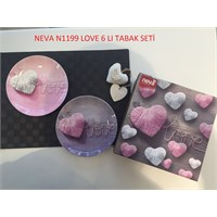 Neva N1199 Love 6 Lı Tabak Seti