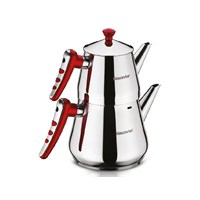 Hascevher Yaprak Mini Boy Çaydanlık Kırmızı