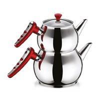 Hascevher Apple Kırmızı Çaydanlık