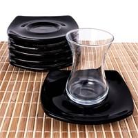 Evon 12 Parça Çay Takımı - Siyah