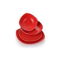 Laviva İris 24 Parça Yemek Takımı - Kırmızı