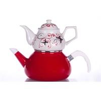 Evon Kelebek Çaydanlık - Kırmızı