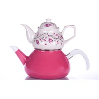 Evon Lale Çaydanlık - Pembe