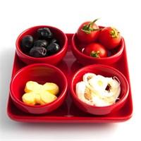 Evon 4'Lü Kahvaltılık - Kırmızı