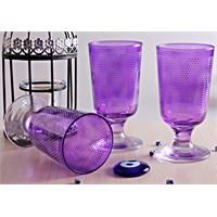 Mos'ev Mor Yıldızlı Ayaklı 6'Lı Meşrubat Bardağı