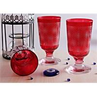 Mos'ev Kırmızı Yıldızlı Ayaklı 6'Lı Meşrubat Bardağı